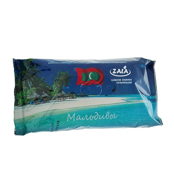 """Салфетки влажные Zala Joy """"Мальдивы"""" с экстрактом ромашки, 72 шт"""