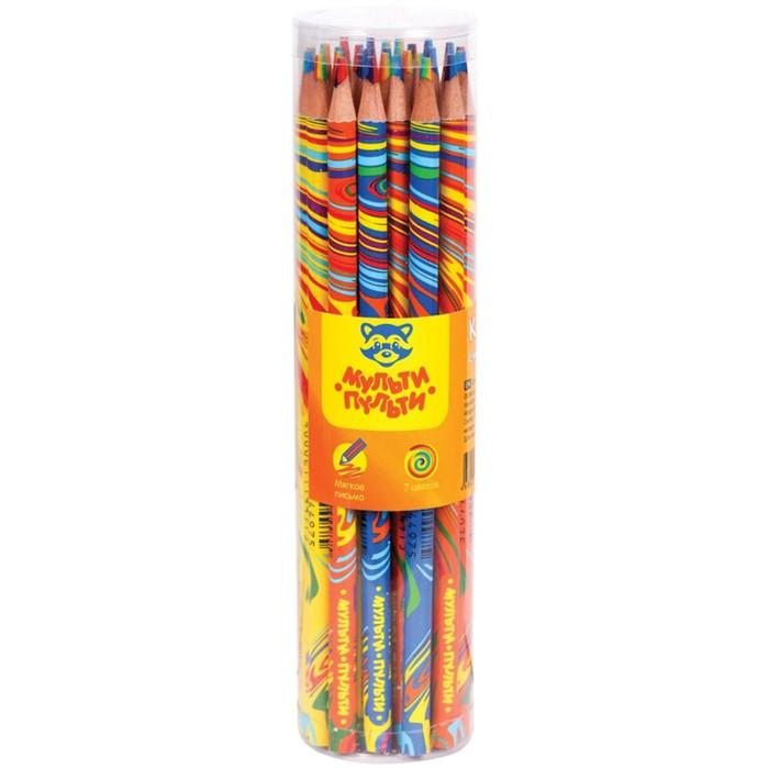Карандаш с многоцветным грифелем Мульти-Пульти, «Енот и радуга», ассорти