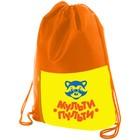 Мешок для обуви 330х420 мм Мульти-Пульти «Приключения Енота», оранжевый