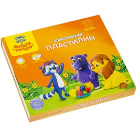 Plasticine, 10 colors, 200 gr, Multi-Remote, Raccoon Adventures, with a stack