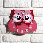 """Часы настенные, серия: Детские, """"Розовая сова"""", 24 см, микс - фото 7035383"""