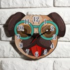 Wall clock for children, a Dog, 24cm mix