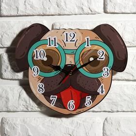 """Часы настенные детские """"Собачка"""", 24 см  микс"""
