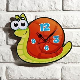 """Часы настенные, серия: Детские, """"Улитка"""", 24 см"""