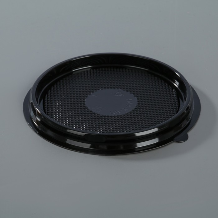 Контейнер одноразовый ПР-Т-85Д, круглый, крышка, d=11 см, цвет чёрный - фото 308009598