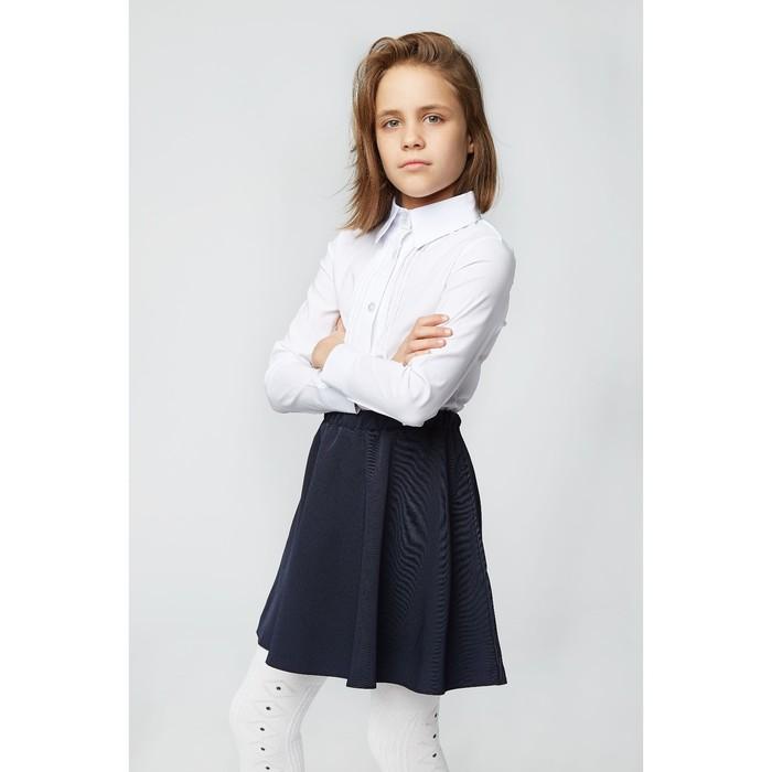 Блузка для девочки 2121, цвет белый, р-р 32