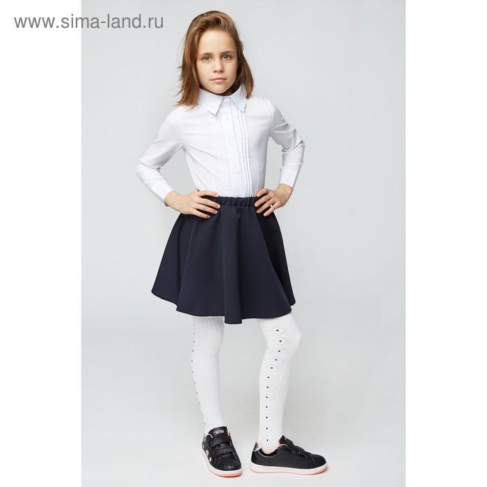 Блузка для девочки 2121, цвет белый, р-р 34