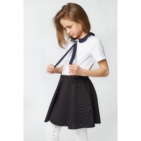 Блузка для девочки 2129, цвет белый, р-р 40 Ош