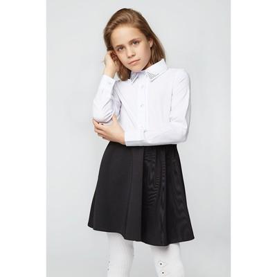Блузка для девочки 2133, цвет белый, р-р 40