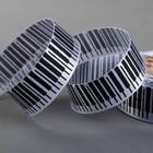 Лента атласная «Клавиши», 25 мм, 22±1м, №01, цвет чёрный/белый