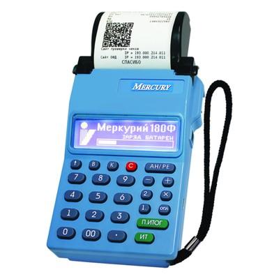 Онлайн-касса Меркурий-180Ф (GSM/WI-FI модули) без ФН   , цвет синий
