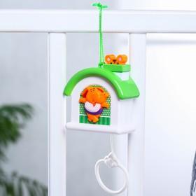 Подвеска музыкальная заводная «Домик» на кроватку/коляску, цвет МИКС