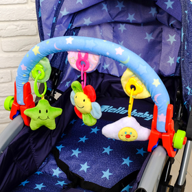 "Arc soft games on the stroller/crib ""Soft friends"""