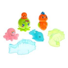 Игрушки для купания «Морские жители», 6 предметов