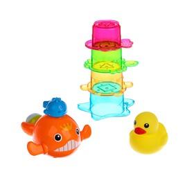 Игрушки для купания «Морские жители № 2», 6 предметов