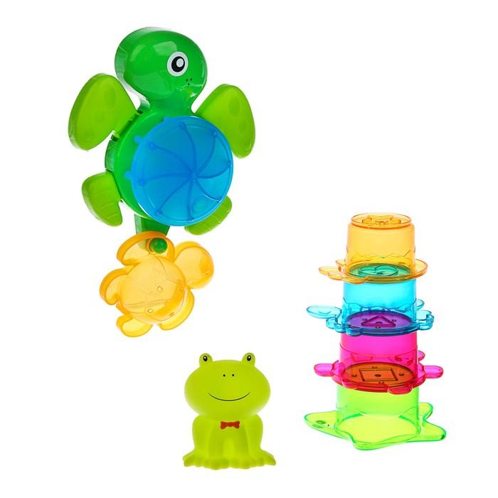 Игрушки для купания «Морские жители № 4», 7 предметов, на присоске
