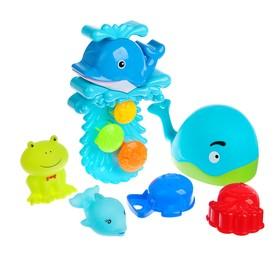Набор игрушек для ванны «Морские жители № 5», 6 шт.