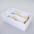 Свадебные бокалы с хрусталиками Сваровски, набор 2 шт, цвет золотой