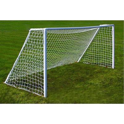 Сетка футбольная белая, 7,5 х 2,5 м, нить 2 мм, комплект 2 сетки