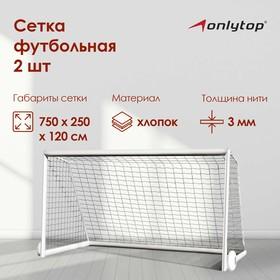 Сетка футбольная, нить 3 мм, 2 сетки