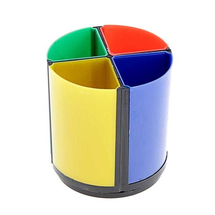 Подставка для пишущих принадлежностей Дольки пластик МИКС
