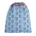 Мешок для обуви, 355 х 430 мм, Jeune Premier «Лев» голубой/синий, Ki018118