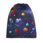 Мешок для обуви, 355 х 430 мм, Jeune Premier «Космос»,  синий, Ki018133