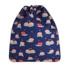 Мешок для обуви, 355 х 430 мм, Jeune Premier для девочки «Лебеди», синий, Ki018135