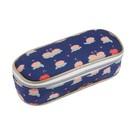 Пенал мягкий футляр ткань, 75х200х50 мм,  Jeune Premier для девочки «Лебеди», синий, Pb018135
