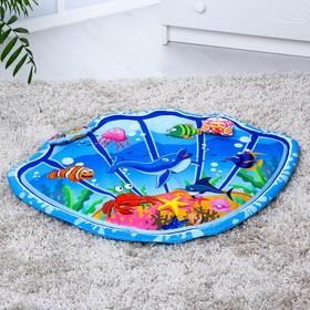 Развивающий коврик детский «Морские приключения», 2 игрушки