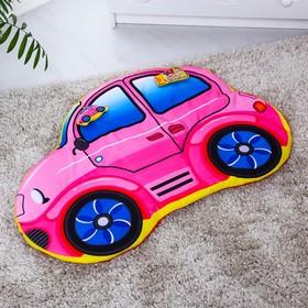 Развивающий коврик детский «Машинка», 2 игрушки