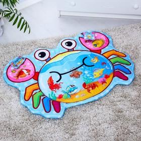 Развивающий коврик детский «Крабик», 2 игрушки