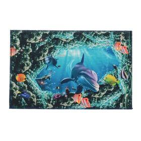 Коврик для ванной 'Морская жизнь' 38х58 см Ош