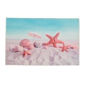 Коврик для ванной 'Ракушки на песке' 38х58 см Ош