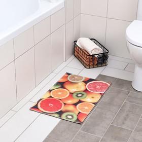 Коврик для ванной 'Фрукты' 38х58 см Ош