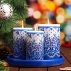 сувенирные новогодние наборы свечей