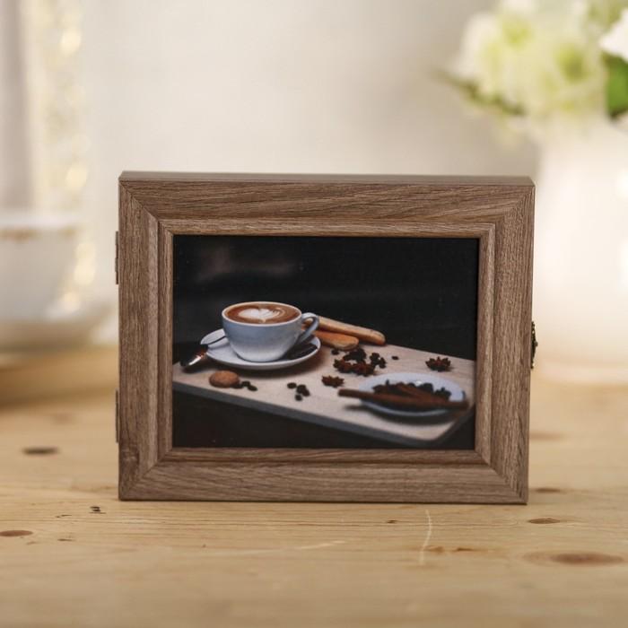 """Ключница """"Аромат кофе"""" коричневая 23,5х18х5 см"""
