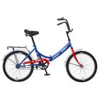 """Велосипед 20"""" Altair City 20, 2018, цвет синий/красный, размер 16"""""""