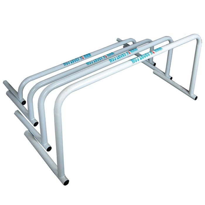Комплект барьеров металлических 4 шт. silver