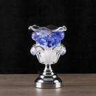 """Аромасветильник """"Синий цвет"""" G5.3 11,5х11,5х18см"""