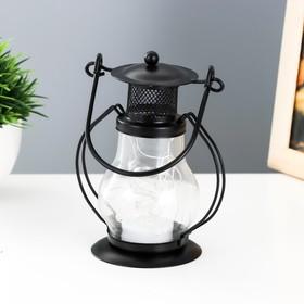 """Ночник """"Лампа"""" LED 1хCR2032 черный 10х7х13см"""