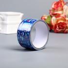 """Клейкая лента декоративная пластик """"Морской пейзаж"""" ширина 4,8 см намотка 5 метров"""
