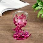 "Подсвечник пластик, стекло ""Бабочка"" розовый 12х7,5х6 см"
