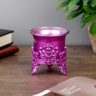 "Candle holder plastic, glass ""Lotus Flower"" violet 6,5х6х6 cm"