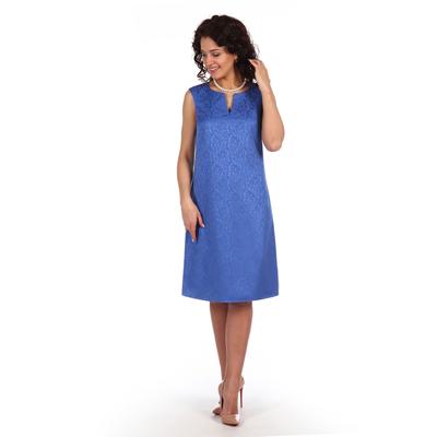 Платье женское Хильда цвет василёк, р-р 48