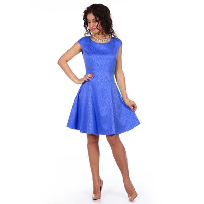 Платье женское Валенсия цвет васильковый, р-р 46