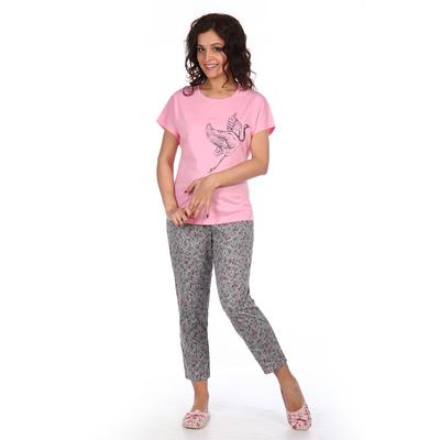 Комплект женский (туника, бриджи) Есения цвет розовый, р-р 54