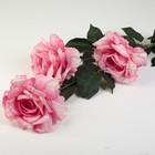 """Цветы искусственные """"Три пышных розы"""" 14*110 см, розовый"""