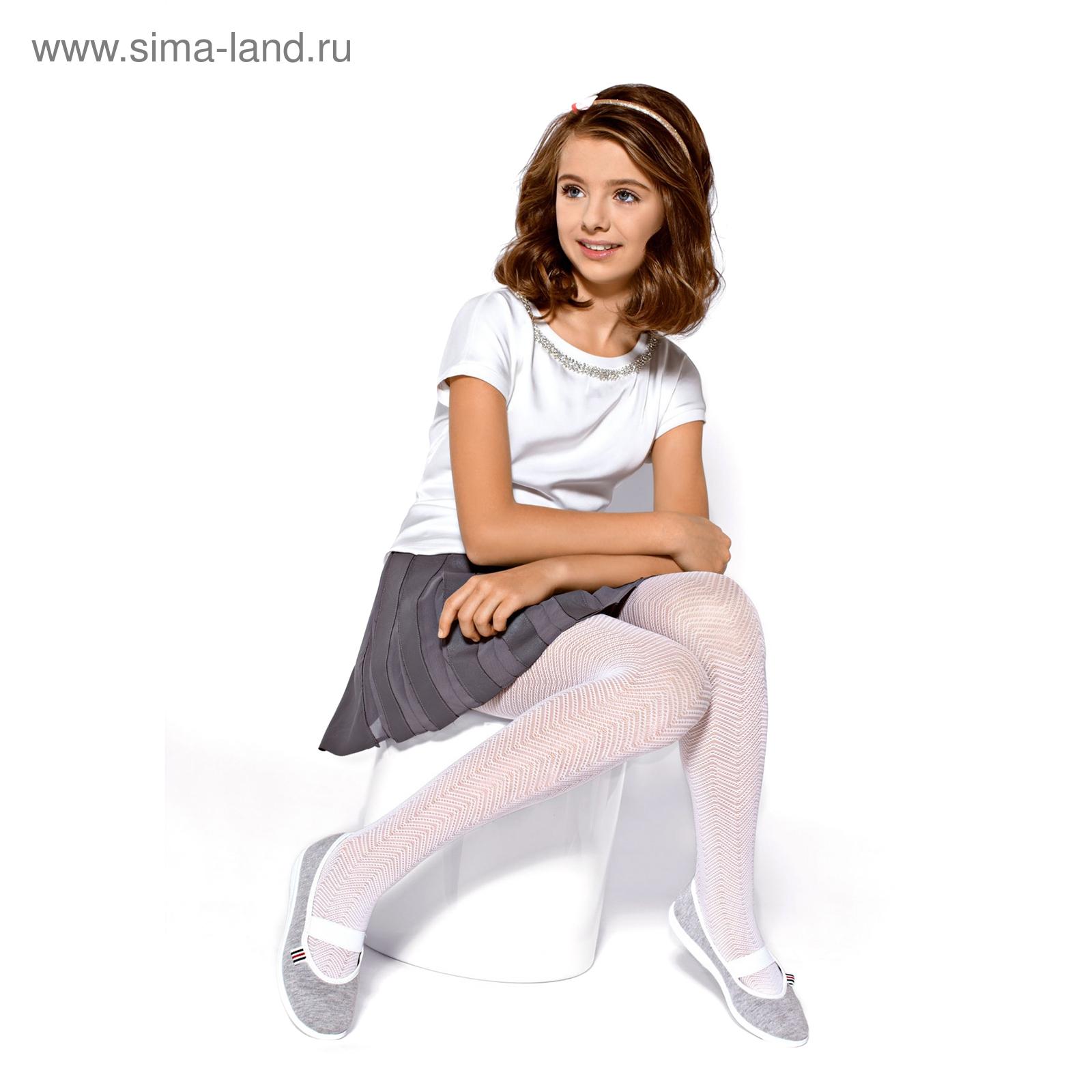 f94f5db66255 Колготки детские нарядные NANCY цвет белый (bianco), рост 116-122 ...