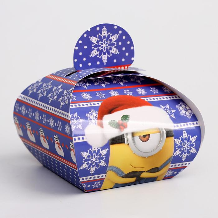 """Коробка подарочная складная """"Новый год"""", Гадкий Я, 11,5 х 11 х 9 см"""